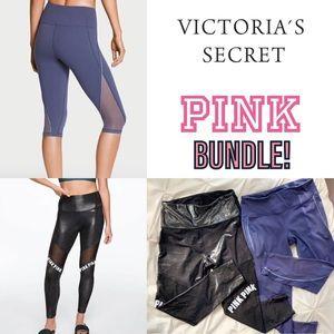 VICTORIAS SECRET PINK BUNDLE 2 LEGGINGS!